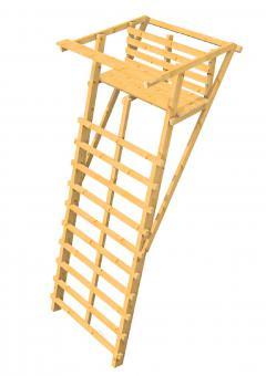 Ansitzleiter Drückjagdleiter groß 329 ohne Dach zweisitzer KDI (Kesseldruckimprägniert) KDI (Kesseldruckimprägniert)