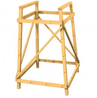 Bockgerüst für Kanzel aus Lärchenholz 125cm 158cm 158cm | 125cm