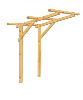 Dachkonstruktion für Ansitzbock Drückjagdbock DB
