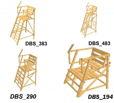 Drückjagdbock DBS ohne Dach sehr standsicher, Drückjagdleiter Lärche DBS_483 DBS_483 | Lärche