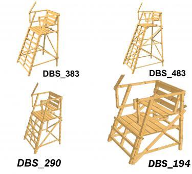 Drückjagdbock DBS ohne Dach sehr standsicher, in verschiedenen Größen KDI DBS_194 DBS_194 | KDI