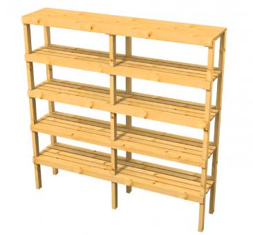 Holzregal für innen oder außen