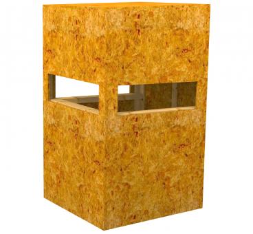 Kanzel offen aus OSB-Platten OSB- Plattenstärke 15mm zerlegt als Bausatz zerlegt als Bausatz | OSB- Plattenstärke 15mm
