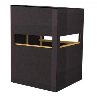 Kanzel offen aus Siebdruckplatten  Plattenstärke 15mm zerlegt als Bausatz zerlegt als Bausatz | Plattenstärke 15mm