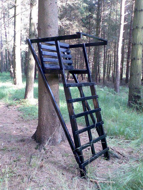 Ansitzleiter ohne Dach KDI 406 Baumstand Ansitzbock Drückjagdbock Baumleiter NEU